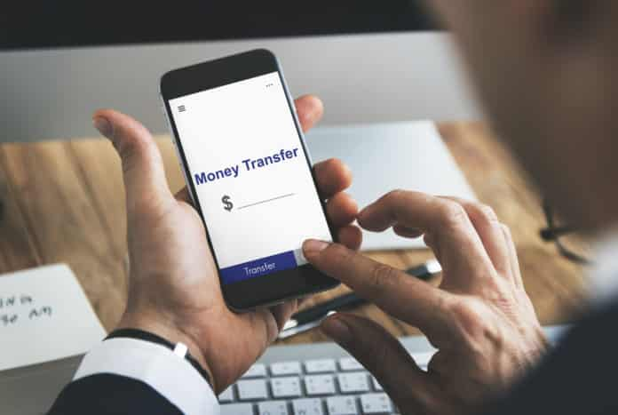 Online Money Transfer Interface Concept.
